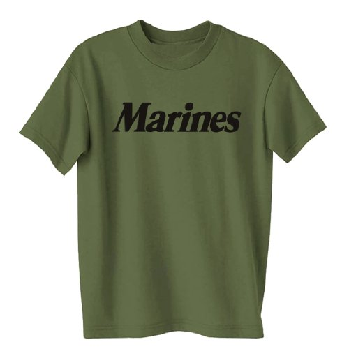 Youth Marines Short Sleeve T-Shirt in Military Green