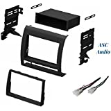 ASC Audio Car Stereo Dash Install Kit and Wire Harness for Installing an Aftermarket Single or Double Din Radio for 2005 2006 2007 2008 2009 2010 2011 Toyota Tacoma - No Factory Premium Amp/JBL