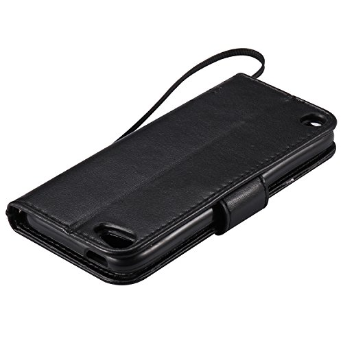 Funda Huawei G7 Plus / G8 / GX8 (5.5) Case , Ecoway Patrón de mariposa de gato en relieve PU Leather Cuero Suave Cover Con Flip Case TPU Gel Silicona,Cierre Magnético,Función de Soporte,Billetera con negro