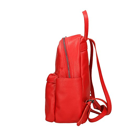 Rouge Made à 35x31x13 cuir dos Sac Italy en Cm Aren femme véritable in UCZ7HWxnB