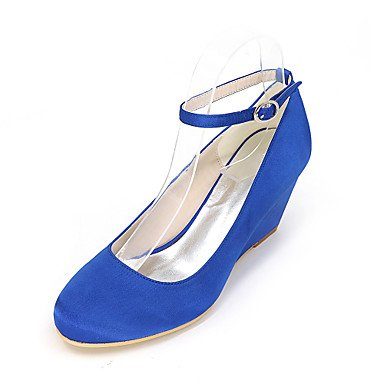 Toe EU39 Party Silk amp;Amp; US8 Wedges Fall Summer Women'S Round CN39 Spring Evening UK6 Wedding Zormey Heels xwq0B64