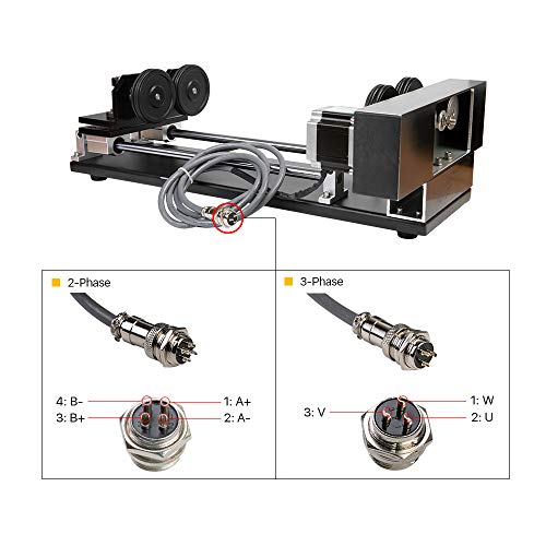 CNC Roller Rotation Axis Rotary Attachment Rotate Engraving for Cutting  Machine (2 Phase Stepper Motor)