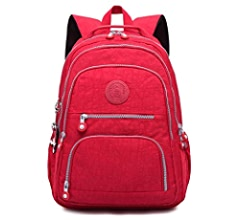 Amazon.com: Nylon Casual Travel Daypack Lightweight Sports Laptop Backpack Purse for Women Waterproof Medium Work College School Bag for Girls (Purple): ...