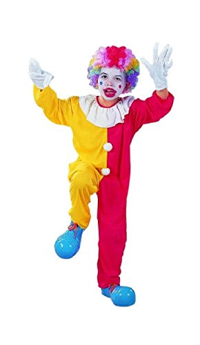 Kids Oversized Clown Shoes (OvedcRay Clown Child Boy Costumes Red Yellow Circus Clown Jester Kids Jumpsuit)