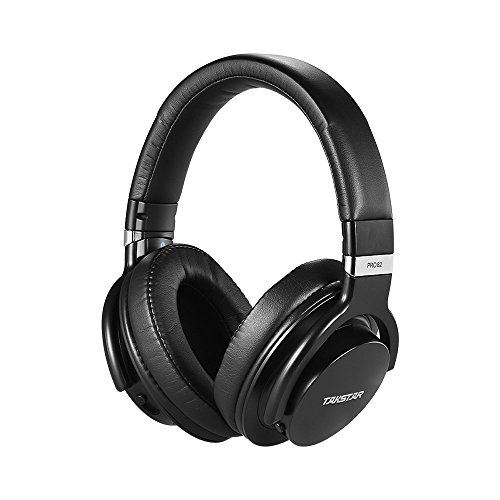 ammoon TAKSTAR PRO 82 Professional Studio Dynamic Monitor Headphone Headset Over-ear for Recording Monitoring Music Appreciation Game Playing with Aluminum Alloy Case(Black) (Game Playing)