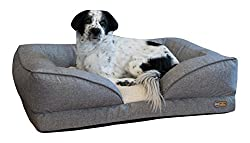 "K&H Pet Products Pillow-Top Orthopedic Lounger Pet Bed Large Classy Gray 28"" x 36"""