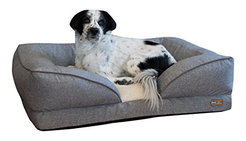 K&H Pet Products Pillow-Top Orthopedic Lounger Pet Bed Large Classy Gray 28