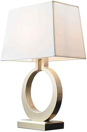 AGLZWY-lamparas de mesa De Noche Luz De Noche Nórdico Luz Calida para Escritorio De Oficina Dormitorio Decoración Sala De Matrimonio Lámpara De Humor (Color : Metallic): Amazon.es: Hogar