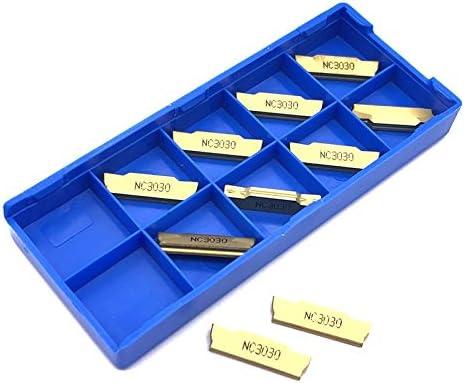 ZDX-CHEXIAODJ, MGMN300 M NC3030 Drehwerkzeuge Wendeplatten MGMN 300 Drehmeißel CNC Abstechen und Einstechen Teil von (Color : As Show)