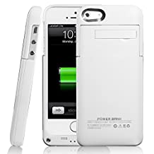 2200mAh iPhone5 5S Power Case External Battery Backup Rechargeable USB Charger, White