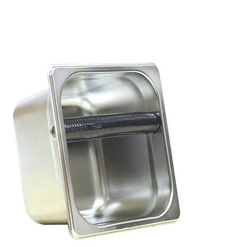 Stainless Steel Espresso Coffee Knock Box Container Coffee Grounds Container Coffee Bucket S/L Size (S size) For Sale