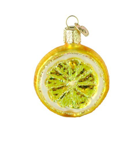 Old World Christmas Lemon Slice Glass Blown Ornament Lemon Gift