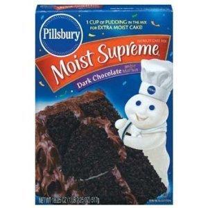 - Pillsbury Moist Supreme Full Size Boxes Cake Mix, Pack of 2 (Dark Chocolate)