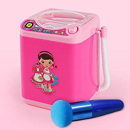 yeehao Mini Multifunción Niños Lavadora Juguete Belleza Esponja Cepillos Lavadora Rosa roja