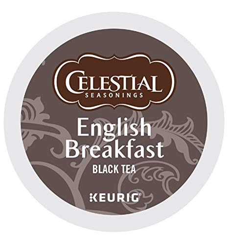 Celestial Seasonings Black Tea Honey - Celestial Seasonings English Breakfast Tea, Single-Serve Keurig K-Cup Pods, Classic English Tea, 96 Count