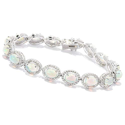 Victoria Wieck Collection Ethiopian Opal & Gem Line Bracelet (7)