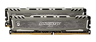 Ballistix Sport LT 32GB Kit (16GBx2) DDR4 3000 MT/s (PC4-24000) CL15 DR x8 DIMM 288-Pin Memory - BLS2K16G4D30AESB (Gray) (B07MNJGP3G) | Amazon price tracker / tracking, Amazon price history charts, Amazon price watches, Amazon price drop alerts