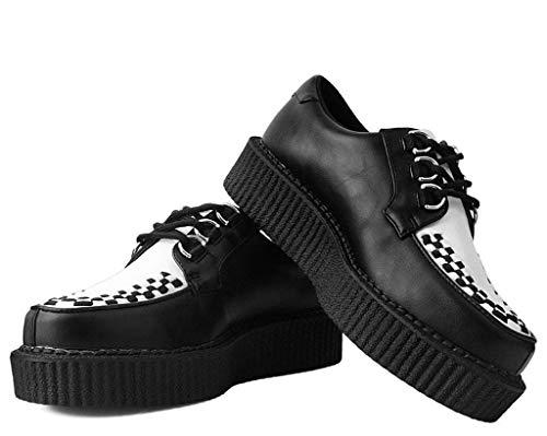 De Anarchiques Creeper k Noir Et Femmes T Hommes Shoes Blanches u Noires gfqwO