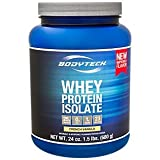 BodyTech Whey Protein Isolate Powder - with 25 Grams of Protein per Serving & BCAA's - Ideal for Post-Workout Muscle Building & Growth, Contains Milk & Soy - Vanilla (1.5 Pound)