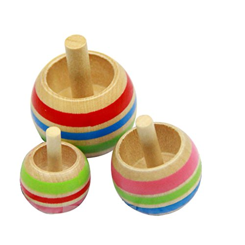 (Fityle Japanese Traditional Wooden Toy Inverted Spinning Top Gyro Boys/Girls)