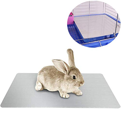 PeSandy Rabbit Cooling Pad, Hamster Cooling Pad Pet Cooling Mat for Rabbit Bunny Hamster Puppy Kitten Guinea Pig & Other Small Pets Stay Cool This Summer – Bite Resistance Pet Cool Plate Ice Bed