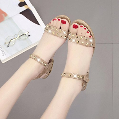 Lolittas Summer Gladiator Diamante Sandals Shoes Glitter Sparkly Bling Sequin,Pretty Lace up Peep Toe Slingback Mid Heels Wedge Platform for Ladies Size 2 3 4 5 6 8 Beige