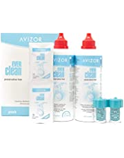 AVIZOR Ever Clean Contact Lens Liquid 2 x 350 ml. Solution for Cleaning and Disinfection of All Types of Contact Lenses.