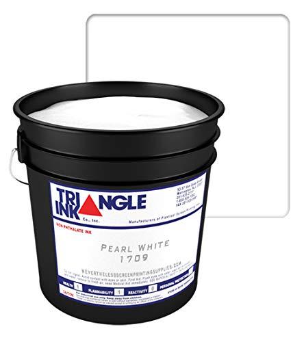 Traingle Screen Printing Plastisol Pearl White Ink - 1709 (Quart)