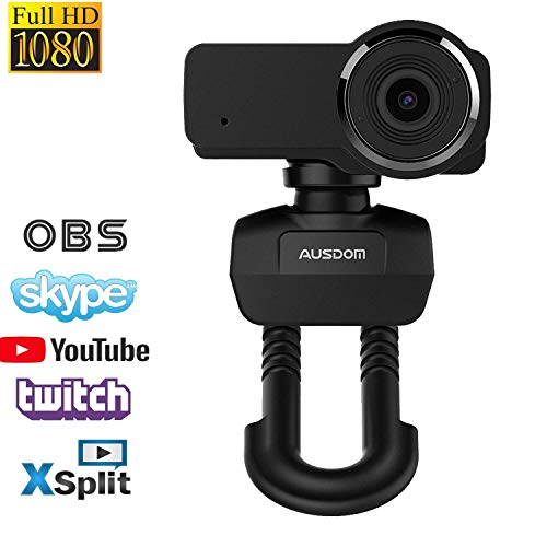 Webcam 635,Full HD Laptop Webcam,1080P Streaming Web Camera with Built-in Stereo Microphone,Widescreen Video Calling and Recording Desktop PC USB Camera for YouTube Xsplit Mixer Skype Twitch OBS (Computer Monitor With Built In Webcam And Microphone)