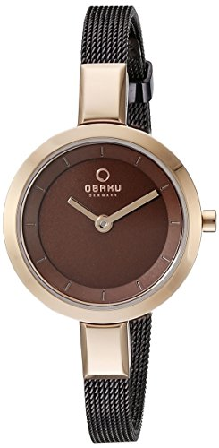 Obaku Women's V129LXVNMN Analog Display Analog Quartz Brown Watch