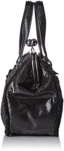 Lollipops Damen Adore Medium Frame Schultertasche, Schwarz (Black), 12x21x32 cm