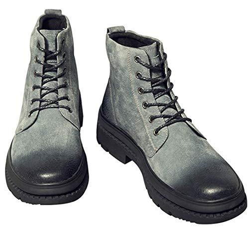 Gris Désert Hommes 42eu Noir Vintage Fuxitoggo Du coloré Taille Martin Bottes Hautes Pour Mode g1qnx8Of4w