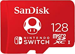 Nintendo-licensed to provide dependable, high-performance storage, The SanDisk microSDXC card for the Nintendo Switch system lets you add up to 128GB* of capacity with transfer rates up to 100MB/s(1) so you can keep your favorite titles on a ...