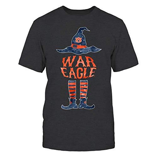 FanPrint Auburn Tigers T-Shirt - Halloween Witch Slogan - Men's Tee/Dark Grey / 3XL -