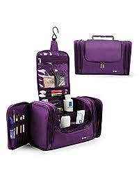 Lavievert Toiletry Bag / Makeup Organizer / Cosmetic Bag / Portable Travel Kit Organizer Bag/ Household Storage Pack / Bathroom Storage For Hanging- Purple