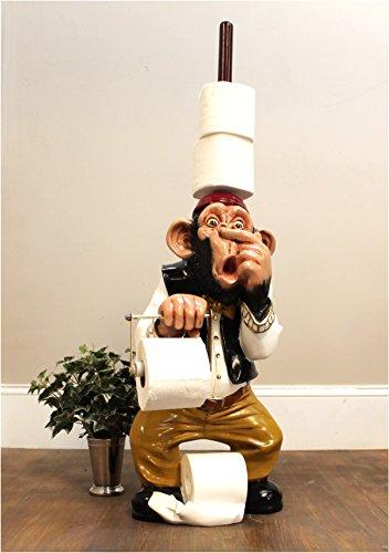 Monkey Butler toilet paper holder nose 3' STATUE funny Ape plunger on (Ape Statue)
