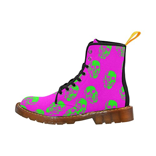 Leinterest Hot Skulls, Neon Martin Boots Fashion Shoes Voor Dames