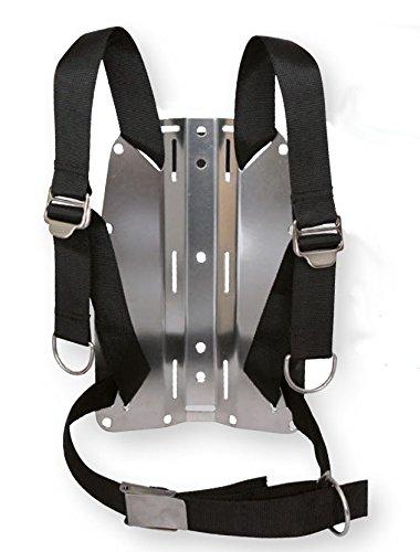 SOPRAS SUB ADJUSTABLE HARNESS AND BACKPLATE tech dive plate Aluminium Scuba Diving Tek ()