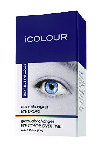 iCOLOUR Color Changing Eye Drops - Change Your Eye Color Naturally - 1 Month Supply - 9 mL (Light - For Contacts Blue Eyes