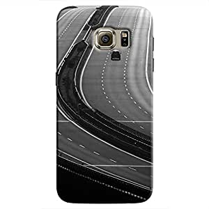 Cover It Up - Highway BW Galaxy S7 Edge Hard Case