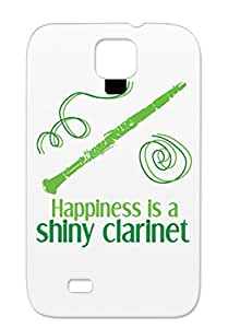 Clarinet Woodwind Instrument Music Band Musician Miscellaneous Music Shiny Marching Green TPU Case For Sumsang Galaxy S4 Shiny Clarinet