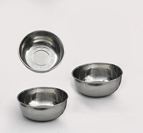 THREE Stainless Steel Utility Bowl Set Spa Equipment Facial Machine