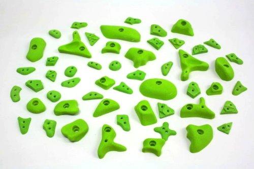 52 Klettergriffe im Set Griffset 'max effect' grün