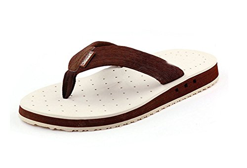 Apoyo De Hombres De Piscina La Verano Fugas Con Flip De Los Zapatillas Sandalias Arco De La White Flops Playa Transpirables q6SCCn