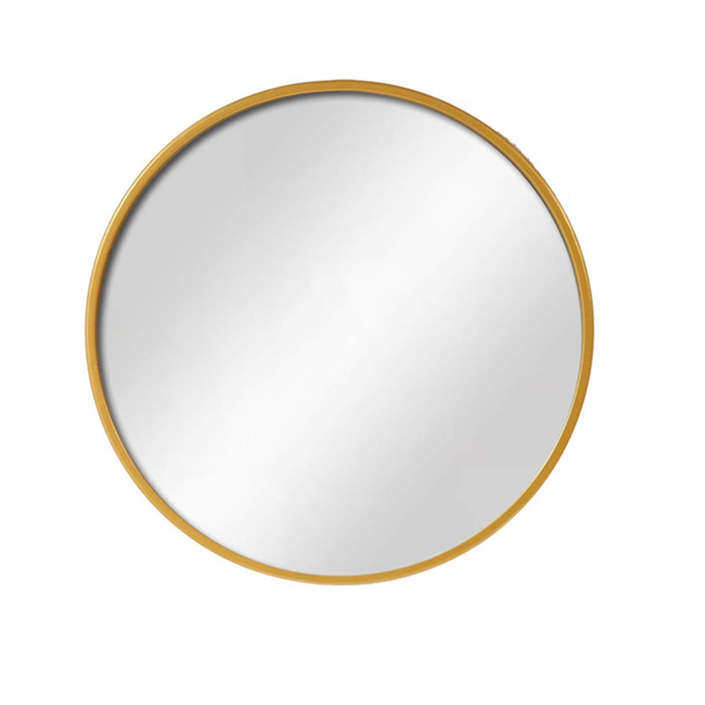 gold 50CM Round Bathroom Mirror Wall Mounted Mount Makeup Vanity Make up Nordic Simplicity Dressing Metal Frame Hotel Decoration