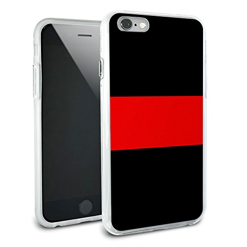 Thin Red Line Firefighters Protective Slim Hybrid Rubber Bumper Case for Apple iPhone 6