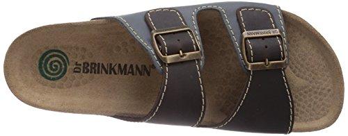 Dr. Brinkmann 600308 - zuecos de piel hombre azul - Blau (Jeans/Mokka)