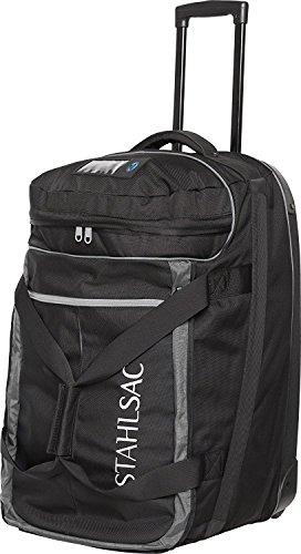 Stahlsac 10 lb Jamaican Smuggler Premium Roller Bag Great for Travel Scuba Diving Diver Gear Bag Snorkeling Jet Skiing Kayaking Swimming Triathlon Camping Rolling Travel Case Black/Grey ()