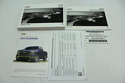 14 Chevrolet Silverado Vehicle Owners Manual Handbook Guide Set