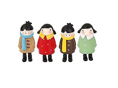 Rosetreee Ornamento de Bonsai Depressed Girls Miniature Fairy Garden Moss Micro Paisaje Bonsai Decor Craft Marr/ón Decoraci/ón del Paisaje